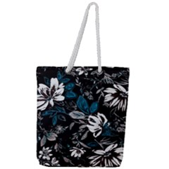 Floral Pattern Full Print Rope Handle Tote (large)