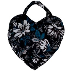 Floral Pattern Giant Heart Shaped Tote