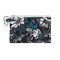 Floral Pattern Canvas Cosmetic Bag (medium)