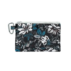 Floral Pattern Canvas Cosmetic Bag (small)