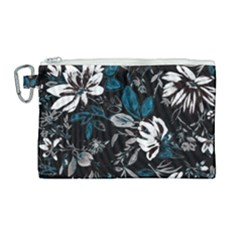 Floral Pattern Canvas Cosmetic Bag (large)