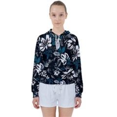 Floral Pattern Women s Tie Up Sweat