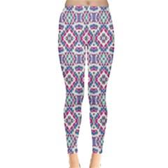 Colorful Folk Pattern Leggings