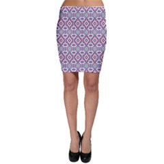 Colorful Folk Pattern Bodycon Skirt