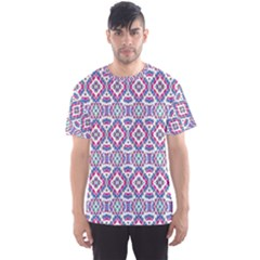 Colorful Folk Pattern Men s Sports Mesh Tee