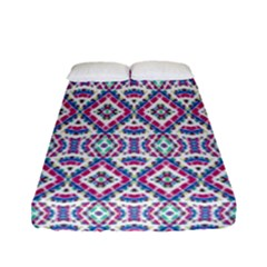 Colorful Folk Pattern Fitted Sheet (full/ Double Size)