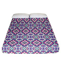 Colorful Folk Pattern Fitted Sheet (california King Size)