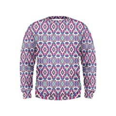 Colorful Folk Pattern Kids  Sweatshirt