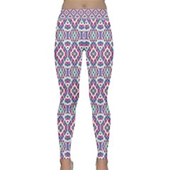 Colorful Folk Pattern Classic Yoga Leggings