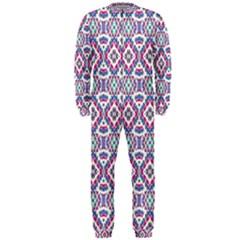 Colorful Folk Pattern Onepiece Jumpsuit (men)