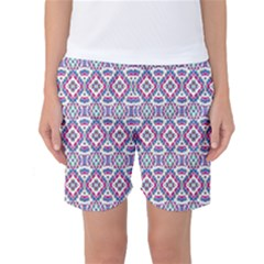 Colorful Folk Pattern Women s Basketball Shorts