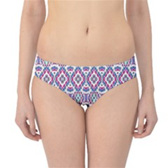Colorful Folk Pattern Hipster Bikini Bottoms