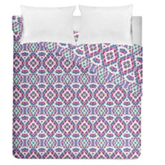 Colorful Folk Pattern Duvet Cover Double Side (queen Size)