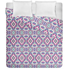Colorful Folk Pattern Duvet Cover Double Side (california King Size)
