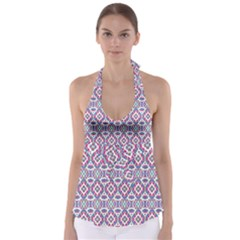 Colorful Folk Pattern Babydoll Tankini Top