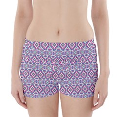 Colorful Folk Pattern Boyleg Bikini Wrap Bottoms