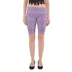 Colorful Folk Pattern Yoga Cropped Leggings