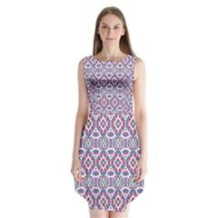 Colorful Folk Pattern Sleeveless Chiffon Dress