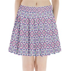 Colorful Folk Pattern Pleated Mini Skirt