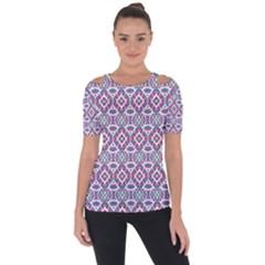 Colorful Folk Pattern Short Sleeve Top