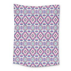 Colorful Folk Pattern Medium Tapestry