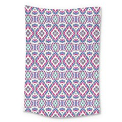 Colorful Folk Pattern Large Tapestry