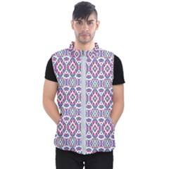 Colorful Folk Pattern Men s Puffer Vest