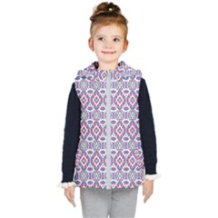 Colorful Folk Pattern Kid s Hooded Puffer Vest