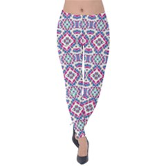 Colorful Folk Pattern Velvet Leggings