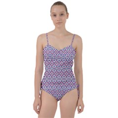 Colorful Folk Pattern Sweetheart Tankini Set