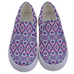 Colorful Folk Pattern Kids  Canvas Slip Ons
