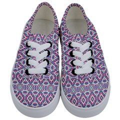 Colorful Folk Pattern Kids  Classic Low Top Sneakers
