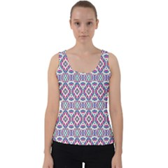 Colorful Folk Pattern Velvet Tank Top