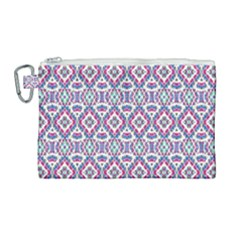 Colorful Folk Pattern Canvas Cosmetic Bag (large)