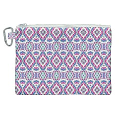 Colorful Folk Pattern Canvas Cosmetic Bag (xl)