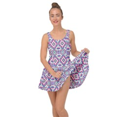 Colorful Folk Pattern Inside Out Casual Dress