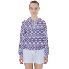 Colorful Folk Pattern Women s Tie Up Sweat
