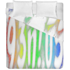 Genius Funny Typography Bright Rainbow Colors Duvet Cover Double Side (california King Size) by yoursparklingshop