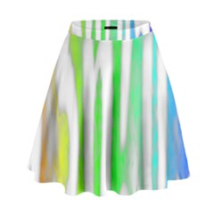 Genius Funny Typography Bright Rainbow Colors High Waist Skirt