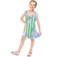 Genius Funny Typography Bright Rainbow Colors Kids  Tunic Dress
