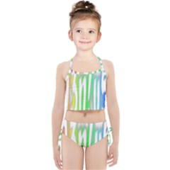 Genius Funny Typography Bright Rainbow Colors Girls  Tankini Swimsuit