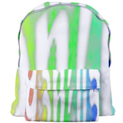 Genius Funny Typography Bright Rainbow Colors Giant Full Print Backpack by yoursparklingshop