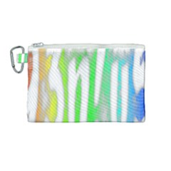 Genius Funny Typography Bright Rainbow Colors Canvas Cosmetic Bag (medium) by yoursparklingshop