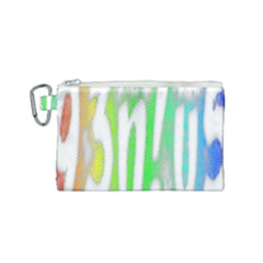 Genius Funny Typography Bright Rainbow Colors Canvas Cosmetic Bag (small) by yoursparklingshop