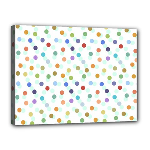 Dotted Pattern Background Brown Canvas 16  X 12