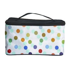 Dotted Pattern Background Brown Cosmetic Storage Case by Modern2018