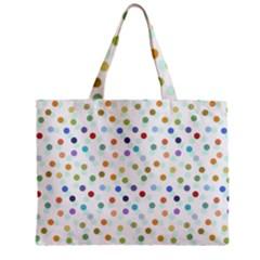 Dotted Pattern Background Brown Zipper Mini Tote Bag