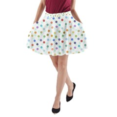 Dotted Pattern Background Brown A Line Pocket Skirt