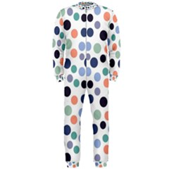 Dotted Pattern Background Blue Onepiece Jumpsuit (men)