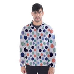 Dotted Pattern Background Blue Wind Breaker (men)